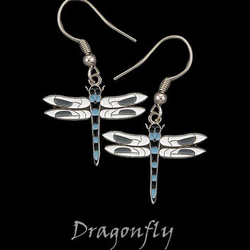 Cloisonne Dragonfly Earrings by Frederick Design