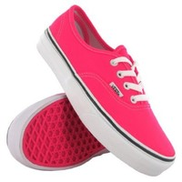 Vans Classic Authentic Plimsole Pink White Womens Trainers Size 9.5 US