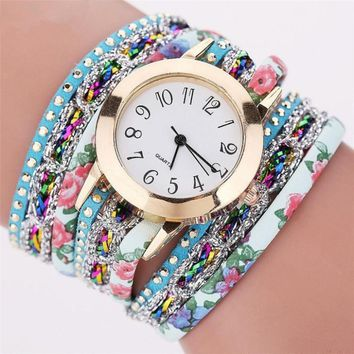 Women Fashion Casual Analog Quartz Women Rhinestone Watch Bracelet Watch Drop Shipping Wholesale relojes hombre 2017 july24