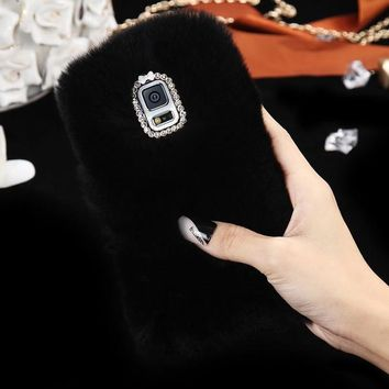 FUR + BLING PHONE CASE