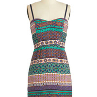 ModCloth Mid-length Spaghetti Straps A-line Major Magnetism Dress