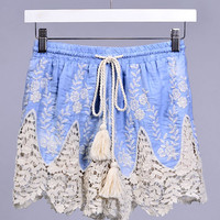 Chamray Lace Embroidered Shorts