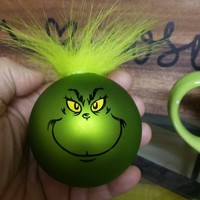 Personalized Christmas Ball - Grinch-man Hairy do