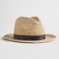 Packable Straw Fedora|gap