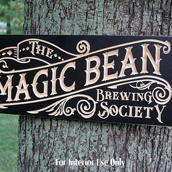 Coffee Bar Sign, Coffee Wall Art, Coffee Sign, Coffee Art, Carved Wood Sign, Personalized Pub Sign, Beer Sign, Benchmark Signs, Maple CB