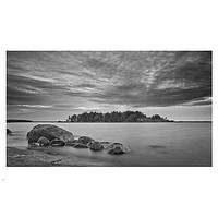 black and white photography poster ISLAND SKY WATER stark beauty 24X36 HOT