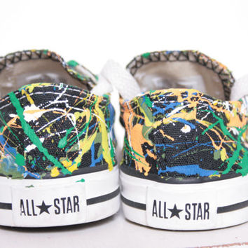 Baby Splatter Painted Sneakers Size 0-3, Painting Only, You Ship Us Your Shoes, Custom Made