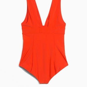 V-Cut Swimsuit - Red - Swimsuits - & Other Stories GB