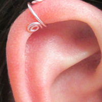 Wire Ear Cuff - Rose Pink
