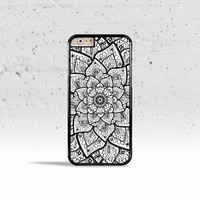 Mandala Flower Case Cover for Apple iPhone 4 4s 5 5s 5c 6 6 Plus & iPod Touch