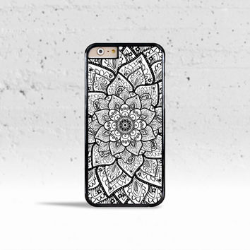Mandala Flower Case Cover for Apple iPhone 4 4s 5 5s 5c 6 6s Plus & iPod Touch