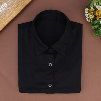 Black Blouse with Collar