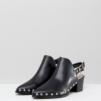 RAID Brandi Black Studded Backless Boots at asos.com