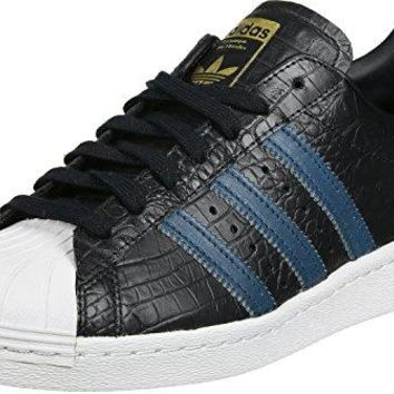 Adidas Mens Superstar 80s Leather Trainers