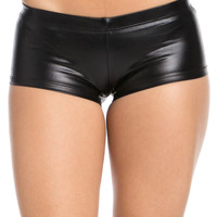 Faux Booty Shorts Black