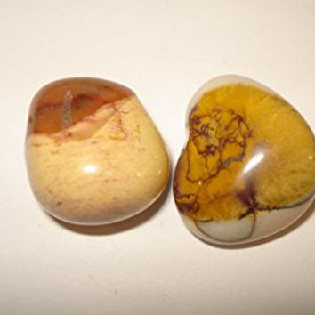 (#D) 2pc Mookaite Premium Quality Small/Medium Crystal Healing 100% Natural Gemstone Tumbled Smooth & Polished Pre-Drilled Bead (** Brand New Item 2015 **)