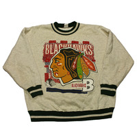 Vintage 1993 Chicago Blackhawks Crewneck Made in USA Mens Size Large