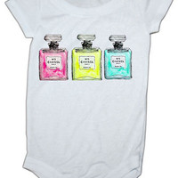 Coco Chanel No. 5  Inspired baby Onesuit