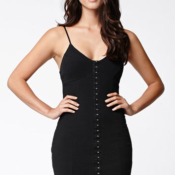 LA Hearts Ribbed Placket Bodycon Dress at PacSun.com