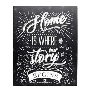 Home is Where the Heart Is - 11 x 14 Wood Plaque