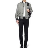 Alexander McQueen - Prince of Wales Check Cashmere Bomber Jacket | MR PORTER