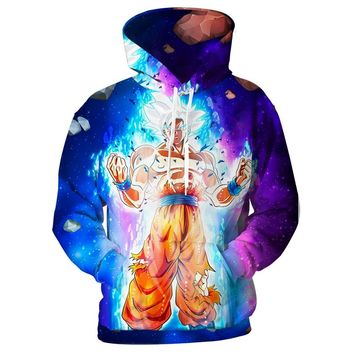 Cloudstyle Dragon Ball Super Hoodies Men Goku Ultra Instinct 3D Print Fashion Hoody Casual Streetwear Pullover Top Plus Size 5XL