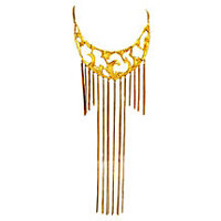 Polcini Bib Necklace w/ Drop Chains