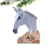 Mule Christmas Ornament - Personalized Mule Christmas ornament, handmade in the USA