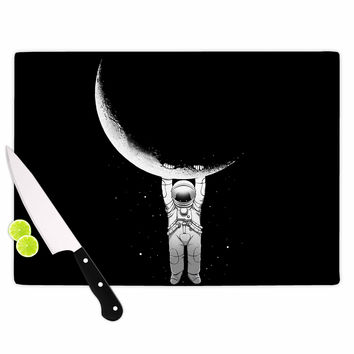 "Digital Carbine ""Help!"" Black White Cutting Board"