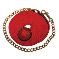 Lunge Line Flat Cotton With Stopper And Chain 25 Foot-Big Dee's Tack & Vet Supply