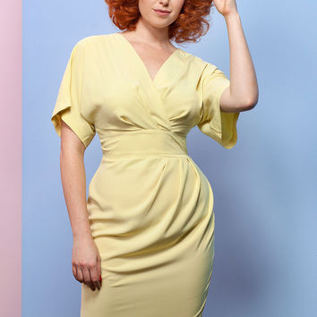 Wrap Up Your Day Dress in Yellow