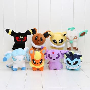 Umbreon Eevee Espeon Vaporeon Flareon Leafeon Plush Toys  Soft Stuffed animals
