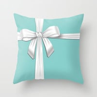 Blue Tiffany Box Throw Pillow by Veylow