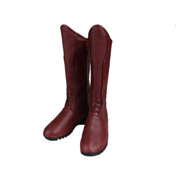 Original Kids Flash Cosplay Flash Season 3 Wally West Cosply BOOTS Any Size Shoes Custom-Made