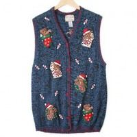 Shop Now! Ugly Sweaters: Teddy Bears Tacky Ugly Christmas Sweater Vest Women's Plus Size 2X $25 - The Ugly Sweater Shop