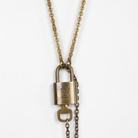 Lux Revival Louis Vuitton Padlock Necklace - Urban Outfitters