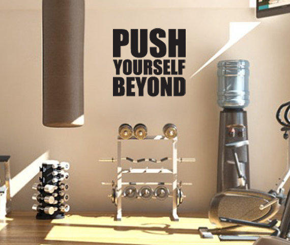 Motivational Decal Push Yourself Beyond From Zestygraphics On