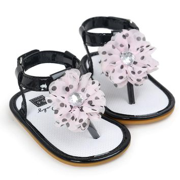 Baby girls sandal shoes Tassel Flower