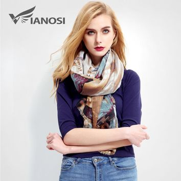 [VIANOSI] Newest Design Women Scarf Luxury Brand Foulard Femme Fashion bandana Print Cotton Scarf Women Scarves Sjaal VR001