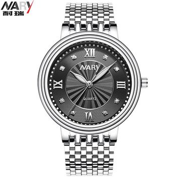 NARY Watch Men Quartz-Watch Luxury Brand Men's Watches Waterproof Clocks Women Wristwatch Relogio Masculino Fashion reloj hombre