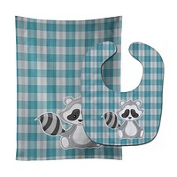 Raccoon Baby Bib & Burp Cloth BB9165STBU