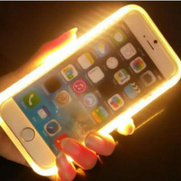 LED Selfie Light Case for iPhone 6 6s Samsung Galaxy S6