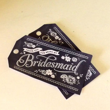 Wedding Favors, Birthday Parties, Bridal Showers, and Bridesmaid's Gift Tags & Cello Bags- Customizable for Your Event