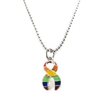 Equal Rights Ribbon Necklace