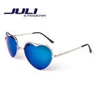 shape heart sunglasses women brand design Metal frame sun glasses vintage sports Mirror glasses oculos de sol feminino 3031C
