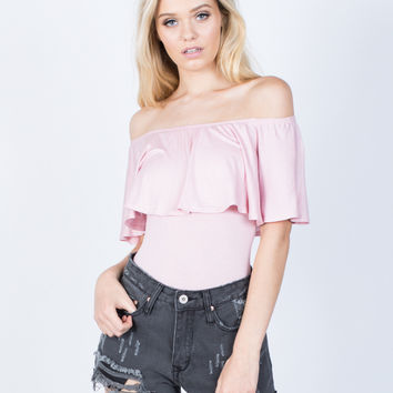 Allie Ruffled Bodysuit