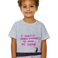 Kids Graffiti Banksy Rat Illegal Graffiti