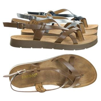 Marmie Instep Rubber Outsole Flat Sandal, Women Strappy Fisherman Open Toe Shoe