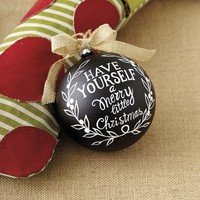 Chalkboard Holiday Message Ornament