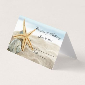 Starfish On The Shore Wedding Reception Place Card